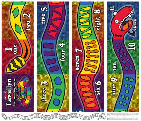 Lewellyn the counting snake. fabric by scotty_c on Spoonflower - custom fabric