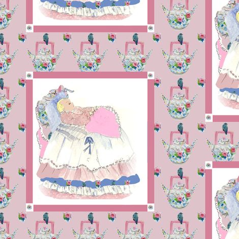 Baby Sarah Elizabeth, half-drop fabric by karenharveycox on Spoonflower - custom fabric