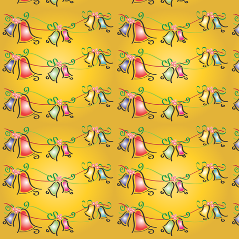 Golden Bells fabric by teelee on Spoonflower - custom fabric