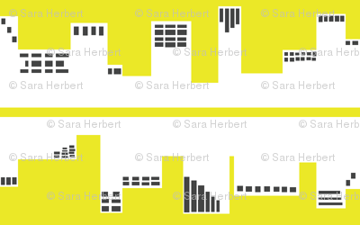 Up Town vs. Down Town in Yellow and Grey