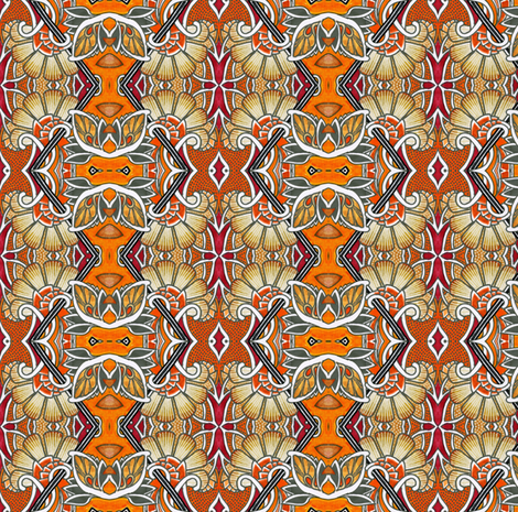 Tiger Lily Diamond Argyle fabric by edsel2084 on Spoonflower - custom fabric