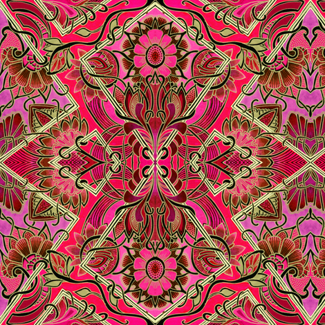 Something Asian This Way Comes (red) fabric by edsel2084 on Spoonflower - custom fabric