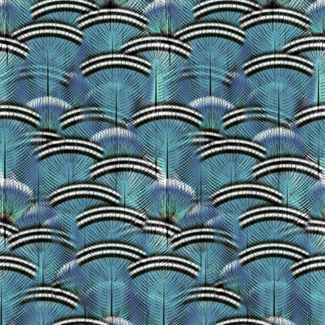 woodduck teal storm 300sv fabric by glimmericks on Spoonflower - custom fabric