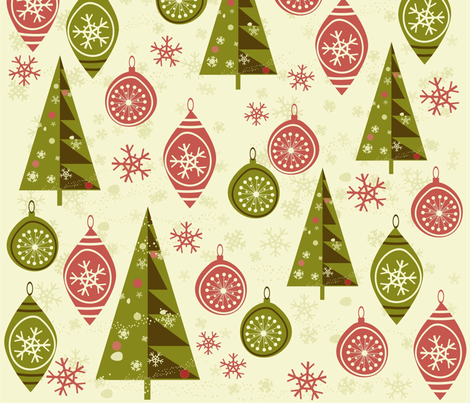 X-mas trees fabric by anastasiia-ku on Spoonflower - custom fabric