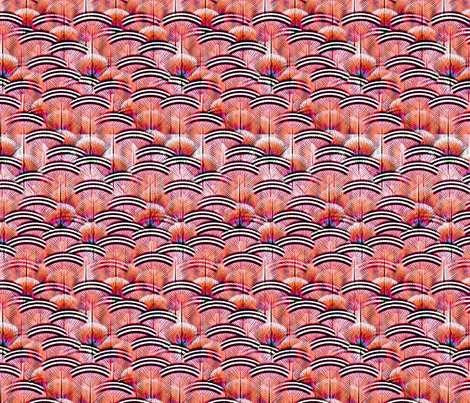 woodduck coral fabric by glimmericks on Spoonflower - custom fabric
