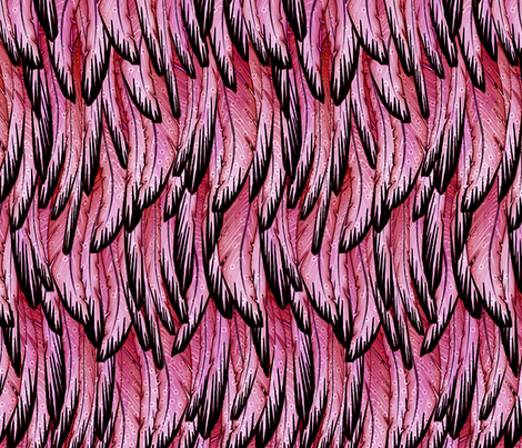 flamingo fabric by glimmericks on Spoonflower - custom fabric