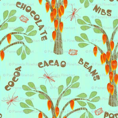 Cacao - with midges and ka-kaw - bluer