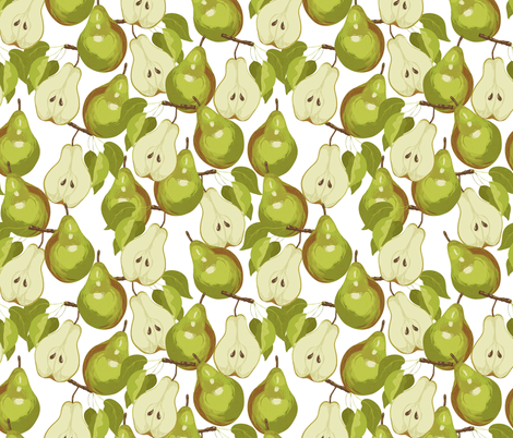 Bartlett Pears fabric by marlene_pixley on Spoonflower - custom fabric