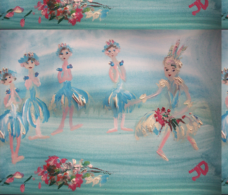 Ballet curtain call fabric by myartself on Spoonflower - custom fabric