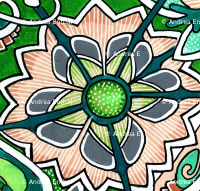 Jaunty Puzzle Retro Flower