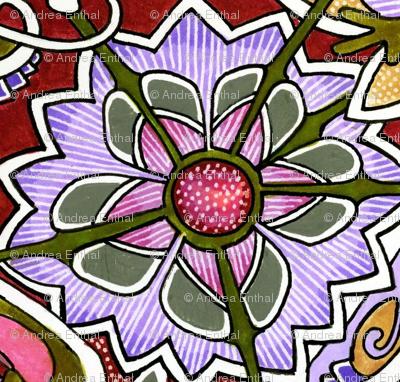 Wacky Flowers (lavender)