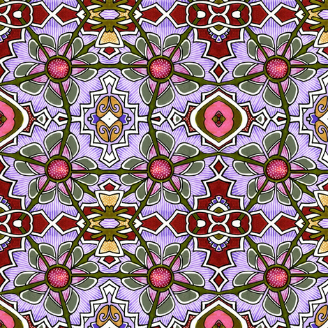 Wacky Flowers (lavender) fabric by edsel2084 on Spoonflower - custom fabric