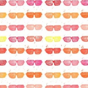 hipster Shutter-Shades Print
