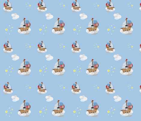 baby elephant pirate sml fabric by bussybuffu on Spoonflower - custom fabric