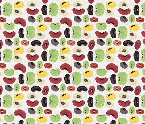 Beans Party fabric by laelei on Spoonflower - custom fabric