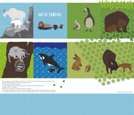 wild babies fabric by johanna_design on Spoonflower - custom fabric