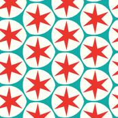 Retro Red Stars