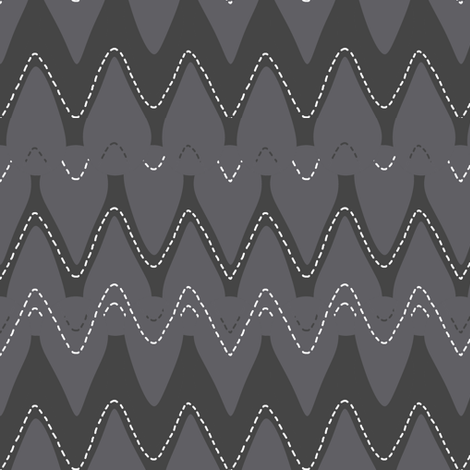 stitched_chevron fabric by katarina on Spoonflower - custom fabric