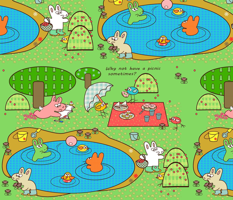 Kato's Picnic fabric by kato_kato on Spoonflower - custom fabric