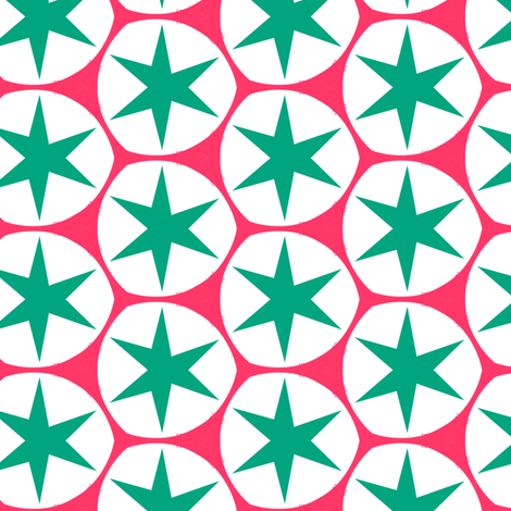Retro Pink & Blue Stars fabric by stoflab on Spoonflower - custom fabric