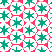 Retro Pink & Blue Stars