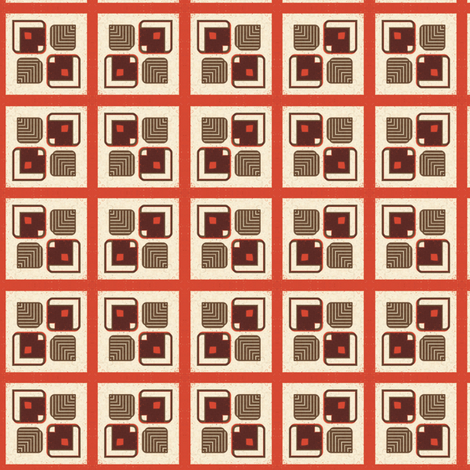 Retro Squares fabric by stoflab on Spoonflower - custom fabric