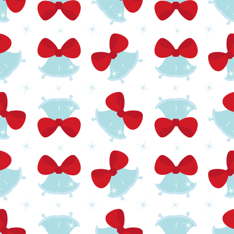 Jingle bells fabric by martinaness on Spoonflower - custom fabric