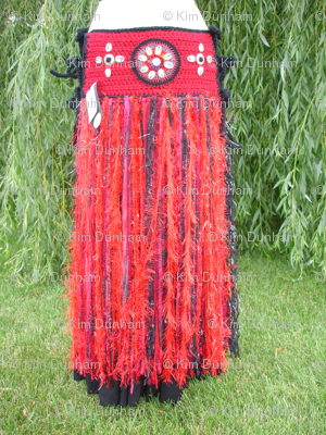 Red Tribal Belt at Willow Tree