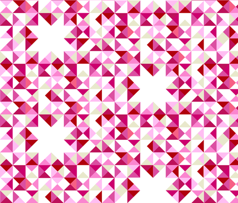 Simple Geometry Pink fabric by threeyellowplums on Spoonflower - custom fabric