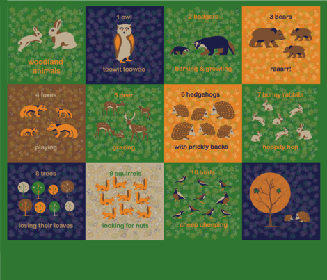 Woodland Animals fabric by somethingluscious on Spoonflower - custom fabric
