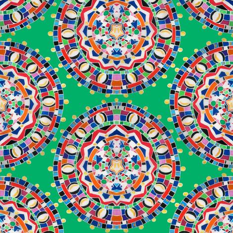 Massai Mosaic Medallion fabric by angelray on Spoonflower - custom fabric