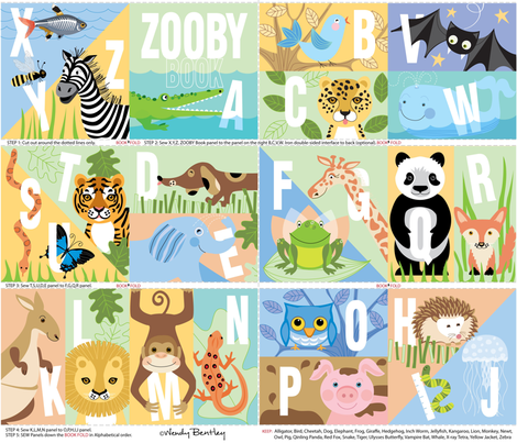 Zooby_Book-Wendy_Bentley fabric by wendybentley on Spoonflower - custom fabric