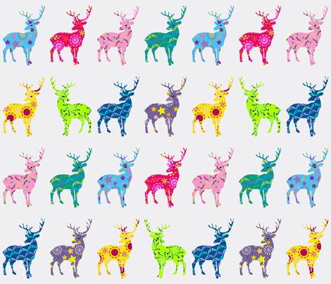 Multi patterned stags fabric by coggon_(roz_robinson) on Spoonflower - custom fabric