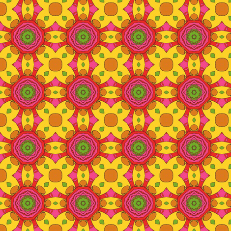Groovy Flowers fabric by stoflab on Spoonflower - custom fabric