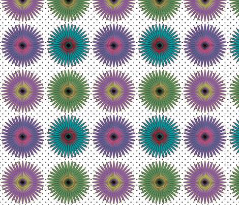 spiroflower on white large fabric by glanoramay on Spoonflower - custom fabric