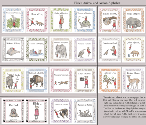 "The Alphabetical Animal Antics of Elsie ( 56"" bolts needed for whole book)"