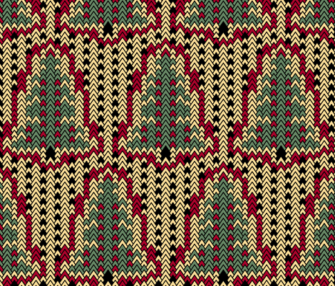 Christmas Sweater Trees 2 fabric by pond_ripple on Spoonflower - custom fabric