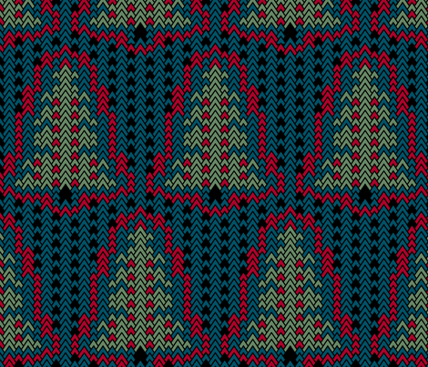 Christmas Sweater Trees fabric by pond_ripple on Spoonflower - custom fabric
