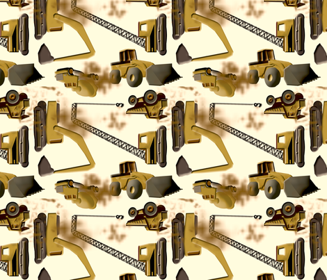 Trucks with Stains fabric by evenspor on Spoonflower - custom fabric