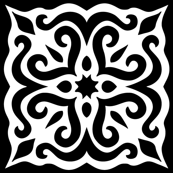 Barock style Cut Art to black pattern.