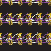 Euphoniums and Ribbons in a row