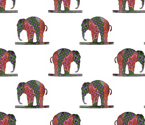quilted_elefant fabric by vinkeli on Spoonflower - custom fabric