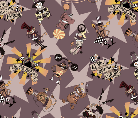 Cirque Noir fabric by urban_threads on Spoonflower - custom fabric