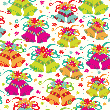 Bells fabric by mandakay on Spoonflower - custom fabric