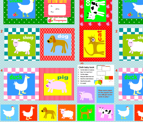 cloth_baby_book_rosapomposa fabric by rosapomposa on Spoonflower - custom fabric