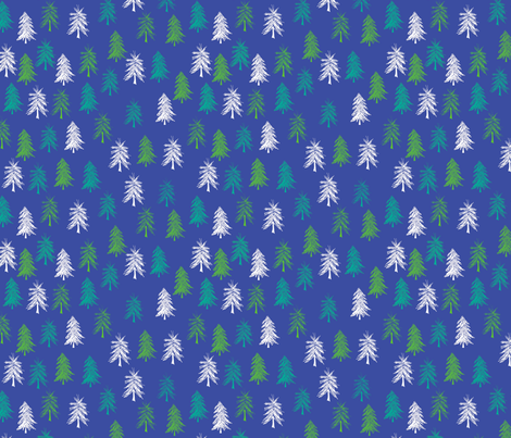 Winter Trees fabric by maplewooddesignstudio on Spoonflower - custom fabric