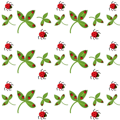 Ladybugs, ladybugs! fabric by amy_frances_designs on Spoonflower - custom fabric