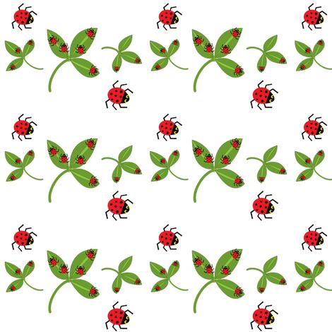 Ladybugs, ladybugs! fabric by amy_frances_designs on Spoonflower - custom fabric