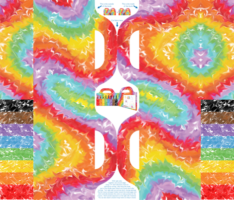 Rainbow Art Book fabric by sew-me-a-garden on Spoonflower - custom fabric