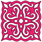 Barock style Cut Art to pink pattern.